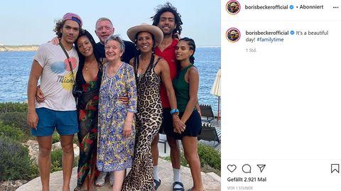 Boris Becker veröffentlichte ein Familienfoto auf Instagram