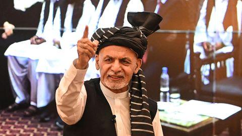 Präsident Aschraf Ghani flieht vor der Übermacht der Taliban