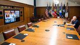 US-Präsident Joe Biden trifft sich virtuell mit seinem nationalen Sicherheitsteam