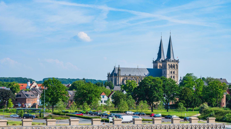Stadtbild von Xanten in Nordrhein-Westfalen