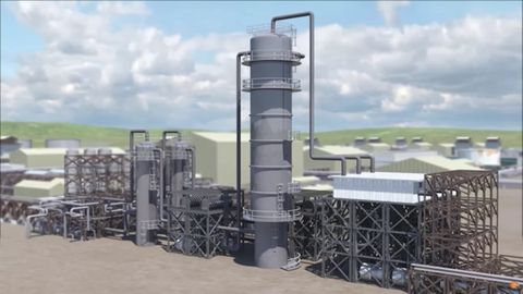 Eine der zwei Anlagen, die blauen Wasserstoff herstellen, setht in Alberta, Kanada.