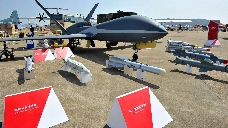 Lange Zeit führten die USA bei der Drohnentechnik, aber inzwischen haben Länder wie China und die Türkei nachgezogen. Das Foto zeigt eine chinesischeDrohne AVIC's Chengdu Aerospace Corporation (CAC).