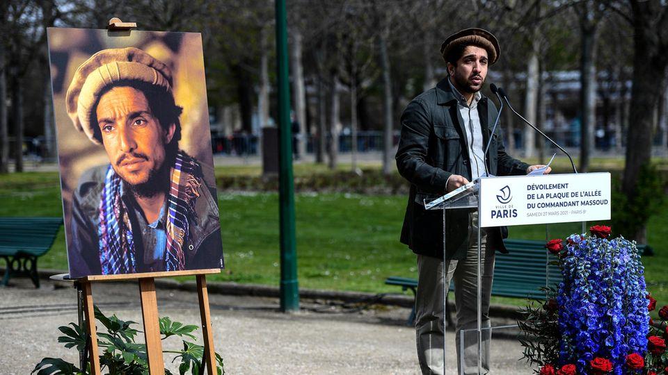 Ahmad Massoud, Sohn des afghanischen Helden Shah Massoud, spricht in Paris
