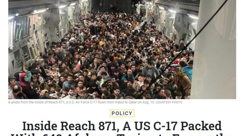 640 Afghanen an Bord