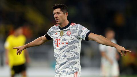 Robert Lewandowski beim Supercup-Finale gegen Dortmund