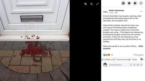 Einbrecher setzen Kidneybohnen ein, um herauszufinden, ob die Bewohner zu Hause sind