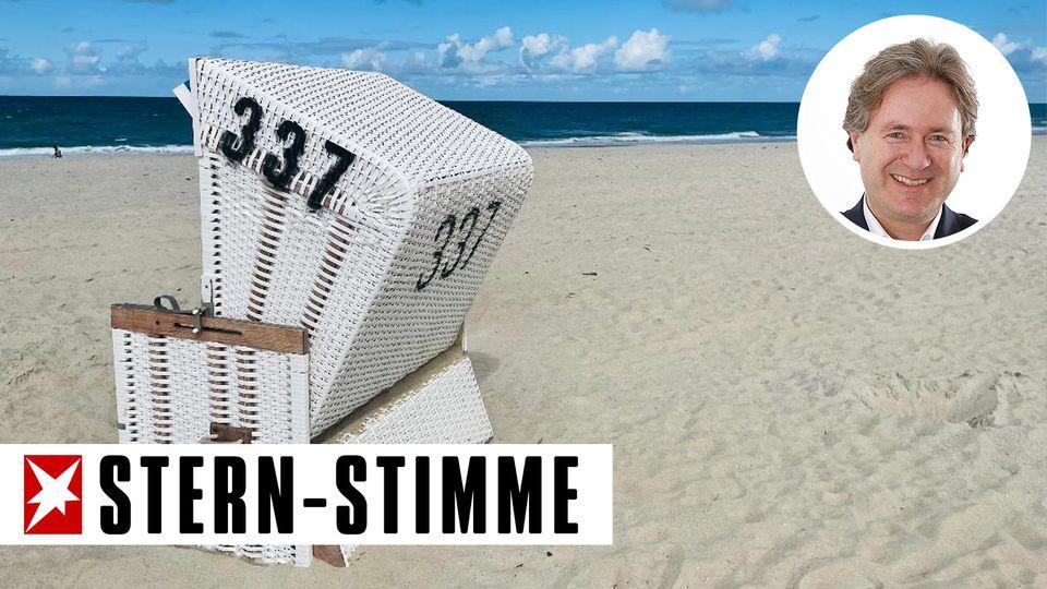 Entspannung im Strandkorb auf Sylt