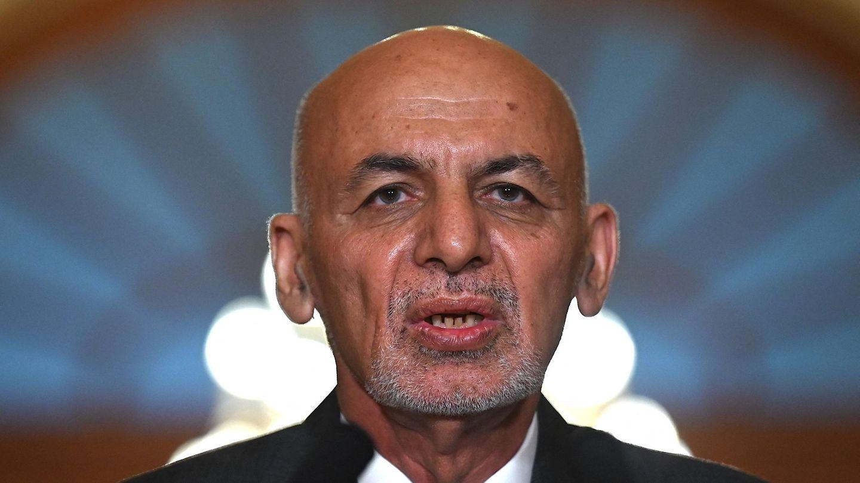 Der aus Afghanistan geflüchtete Präsident Aschraf Ghani