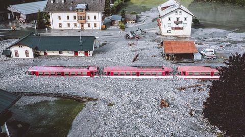 Fluten in der Nähe von Salzburg