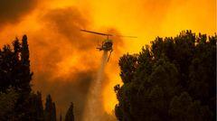 Waldbrand Athen