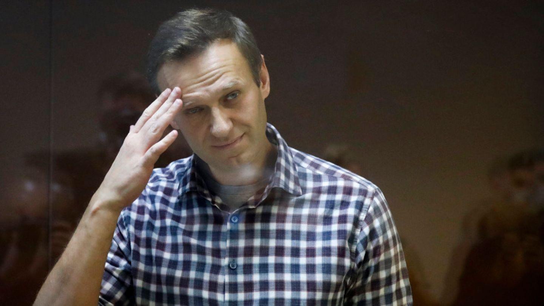 Alexej Nawalny während seines Gerichtsprozesses