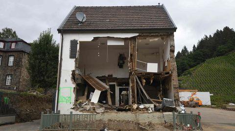 Zerstörtes Haus in Rech