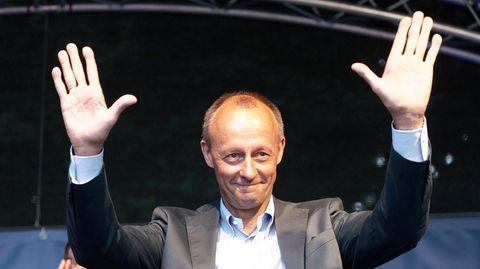 Friedrich Merz beim Wahlkampfauftakt der Jungen Union von Nordrhein-Westfalen