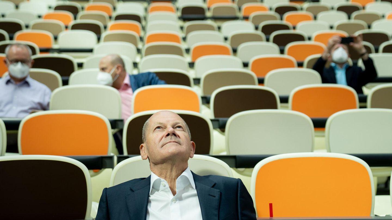 Das Kanzleramt im Blick: Olaf Scholz, Bundesfinanzminister und SPD-Kanzlerkandidat