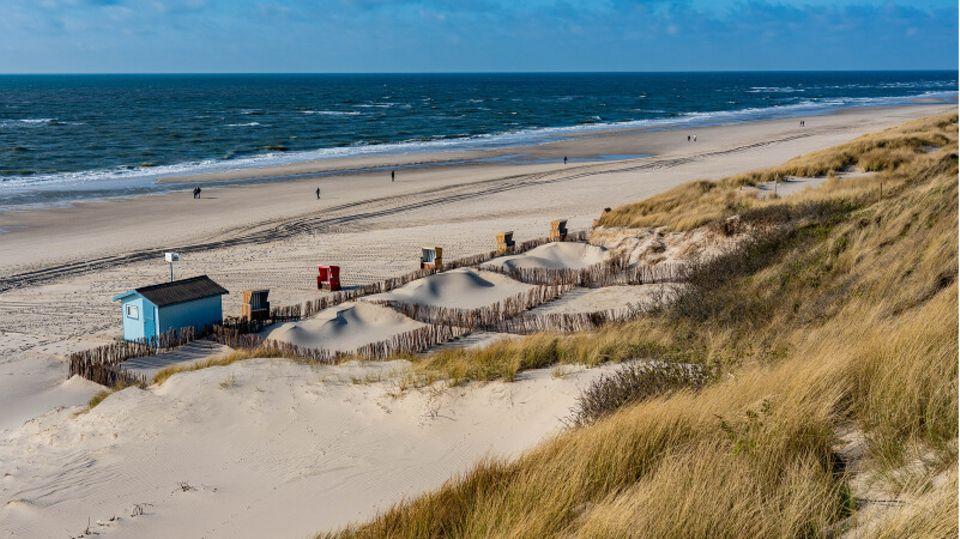 Der Strand von Wenningstedt auf Sylt