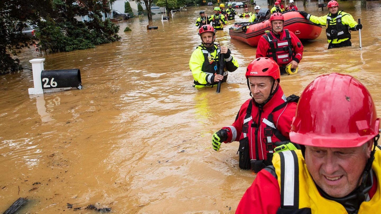 Freiwillige Feuerwehr hilft Henri-Opfern