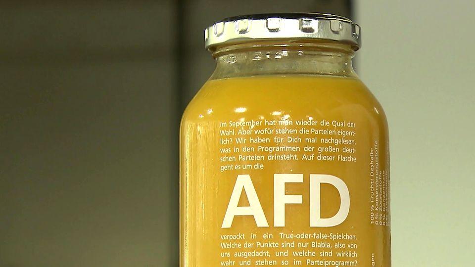 Umstrittene True-Fruits-Aktion: Edeka verbannt AfD-Flaschen auf dem Sortiment
