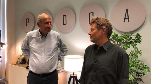 Robert Habeck zu Gast bei Ulrich Wickert