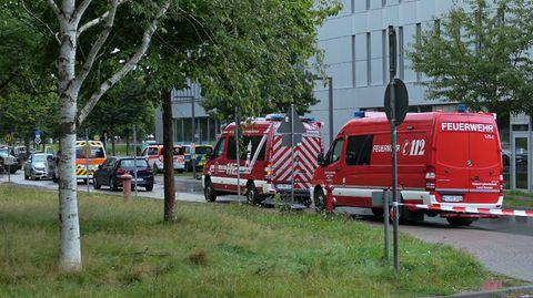 Weiträumig abgesperrt ist das Areal um das Gebäude L201 auf dem Campus der Technischen Universität