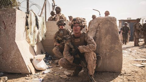 US-Soldaten am Flughafen in Kabul