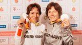 Carmen und Ramona (r.) Brussig, Judo bis 52 kg. Sehbehindert. Die Frauen aus Mecklenburg-Vorpommern sind wahrscheinlich die erfolgreichsten Sportzwillinge der Welt.