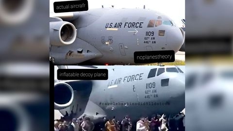 Ein US-Flugzeug in Kabul
