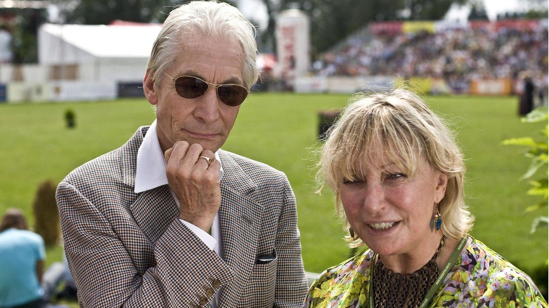 Charlie Watts und seine Ehefrau Shirley