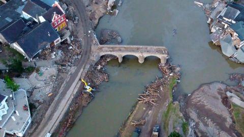 Ahrweiler: Video zeigt Zerstörung sechs Wochen nach Flutkatastrophe
