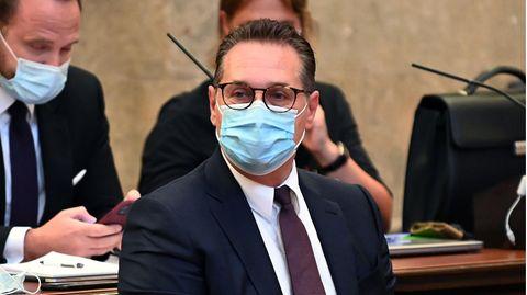 Heinz-Christian Strache, ehemaliger Vizekanzler von Österreich,im großen Schwurgerichtssaal im Landesgericht Wien