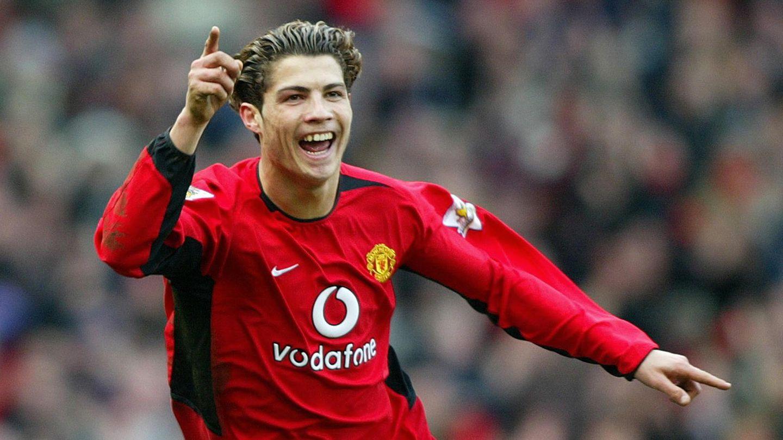 Der junge Cristiano Ronaldo im ManU-Trikot 2004