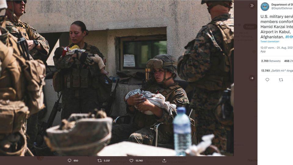 Soldatin Afghanistan
