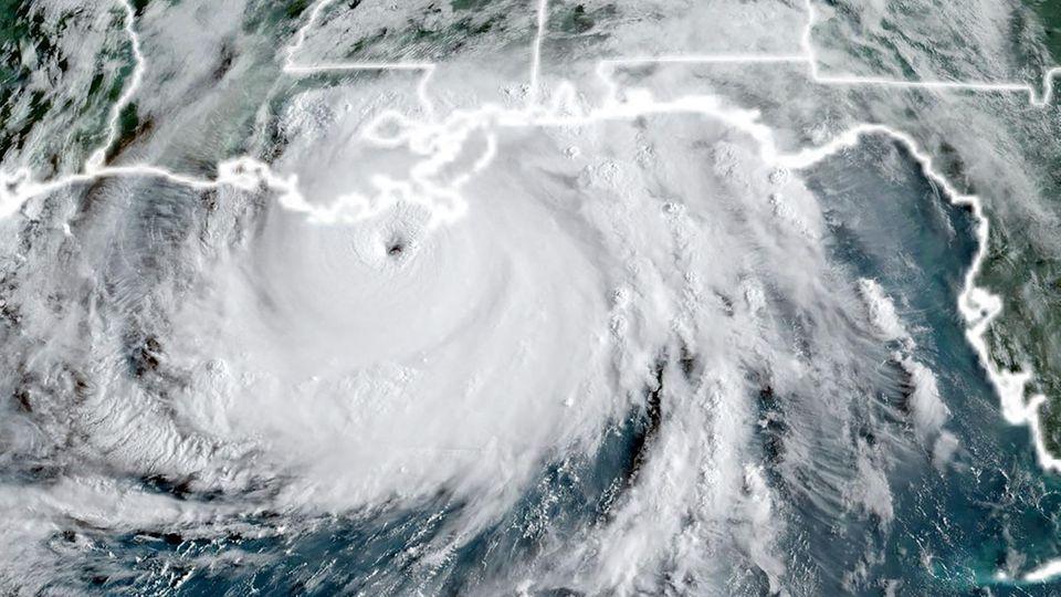 Hurrikan Ida Louisiana: Hurrikan auf einer Satelliten-Aufnahme