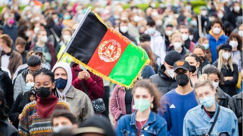 Demonstration für rasche Evakuierungen Schutzbedürftiger aus Afghanistan