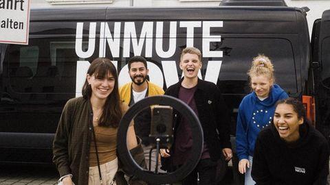 """Das """"Unmute Now""""-Team auf dem Weg quer durch Deutschland"""