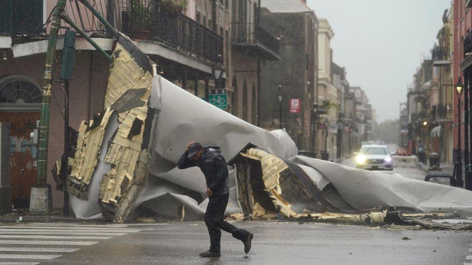 """Hurrikan """"Ida"""": Schäden in der US-Stadt New Orleans"""