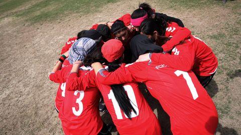 Spielerinnen der afghanischen Fußball-Nationalmannschaft