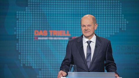 SPD im Höhenflug: Wie Olaf Scholz beim ersten TV-Triell punkten konnte