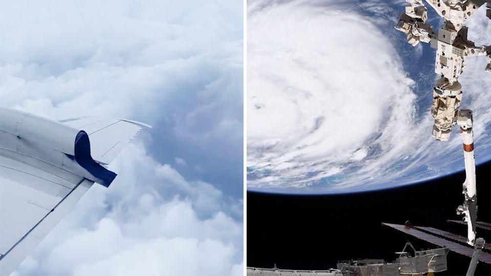 Hurrikan Ida: Flugzeug fliegt ins Auge des Sturms