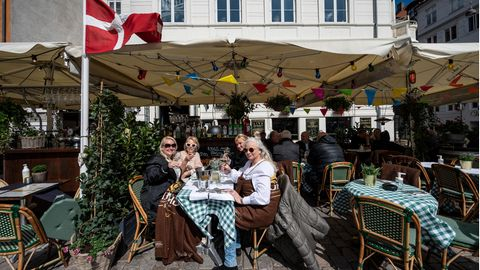 Ein Restaurant in Nyhavn in Kopenhagen