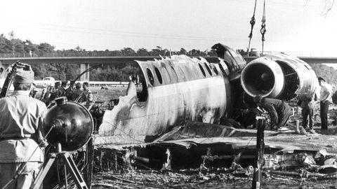 Wrack des BAC-1-11 der Fluggesellschaft Paninternational