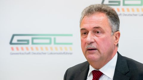 Claus Weselsky istVorsitzender der Gewerkschaft Deutscher Lokomotivführer (GDL)