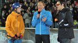 """Poschmann konnte mehr als nur Sport:2012 moderierte er dieAußenwette der ZDF-Show """"Wetten, dass..?""""."""