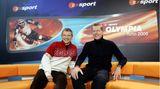 Auch imWintersport kannte er sich aus. Zusammen mit Norbert König (l.) gehörte Poschmann zum Kommentatoren-Team für die Olympischen Winterspiele 2006 in Turin.