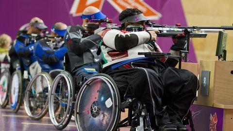 Para-Sportschützen beim zweiten Wettkampftag der Paralympischen Spiele in Tokio