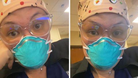 """""""Covid hat ein Geräusch"""": Krankenschwester macht auf steigende Anzahl ungeimpfter Patienten aufmerksam"""