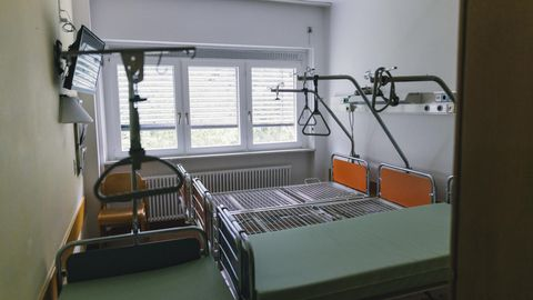 Leere Krankenhausbetten im Klinikum Ortenau im baden-württembergischen Oberkirch