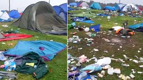 Leeds Musikfestival: Besucher hinterlassen tausende Zelte und Berge an Müll