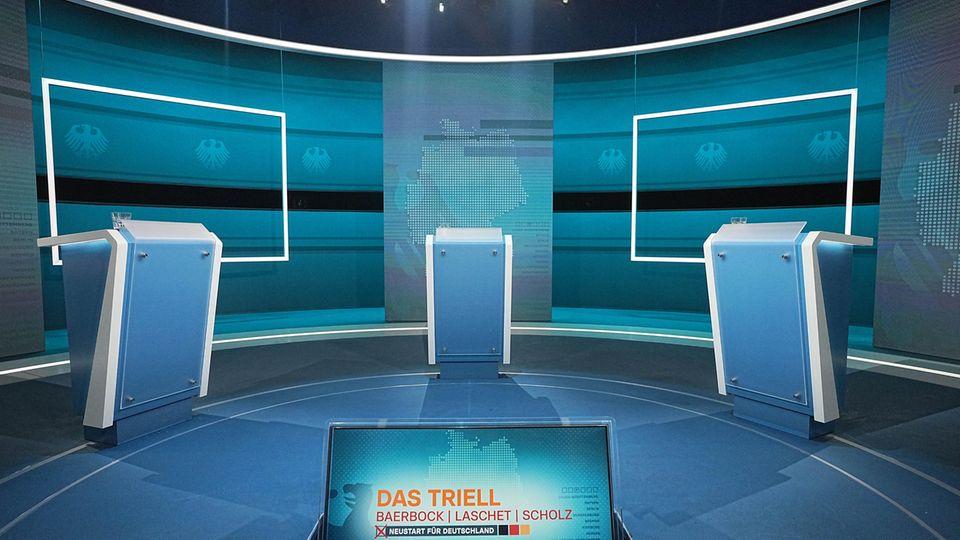 Wahlkampf RTL-Studio Triell
