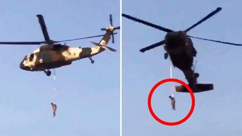 Afghanistan: Taliban-Kämpfer hängt an US-Hubschrauber