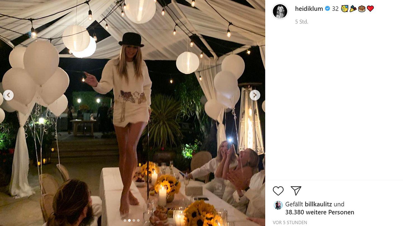 Vip News: Heidi Klum tanzt zum Geburtstag von Tom und Bill Kaulitz auf dem Tisch